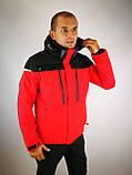Мужская горнолыжная куртка красная, фото 8