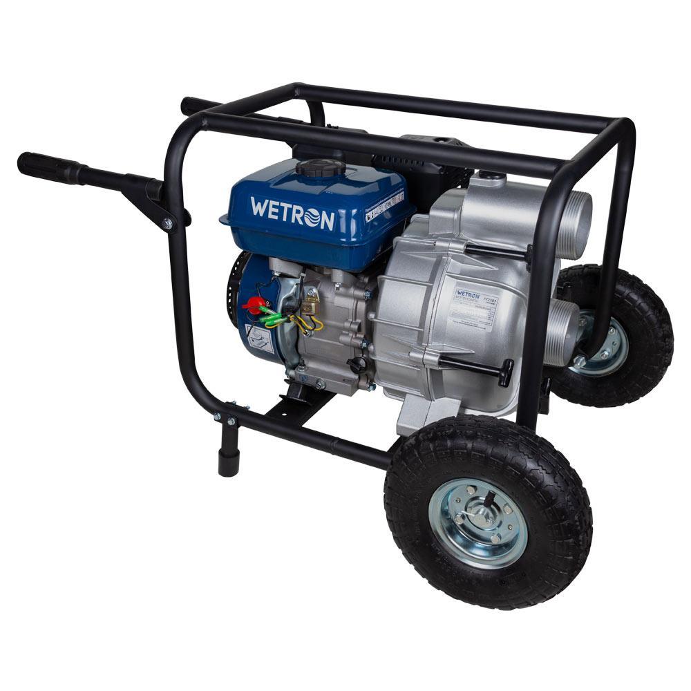 Мотопомпа 7.5 л. с. Hmax 26м Qmax 60 м3/год (4-х тактний) для брудної води WETRON (772557)