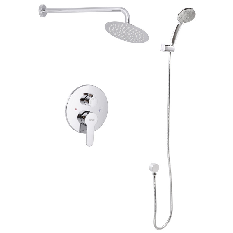 Вбудована душова система зі змішувачем і тропіч. душем ZERIX LR2403-2 (LL1210)