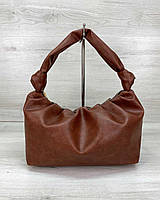 Женская коричневая рыжая сумка мешок шоппер на одно плечо 59402, фото 1