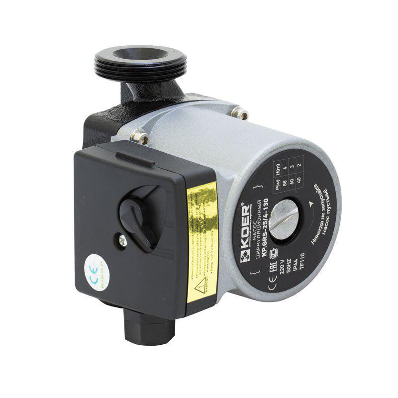Насос циркуляционный центробеж. KOER KP.GRS-25/4-130 (с кабелем и вилкой) (KP0250)
