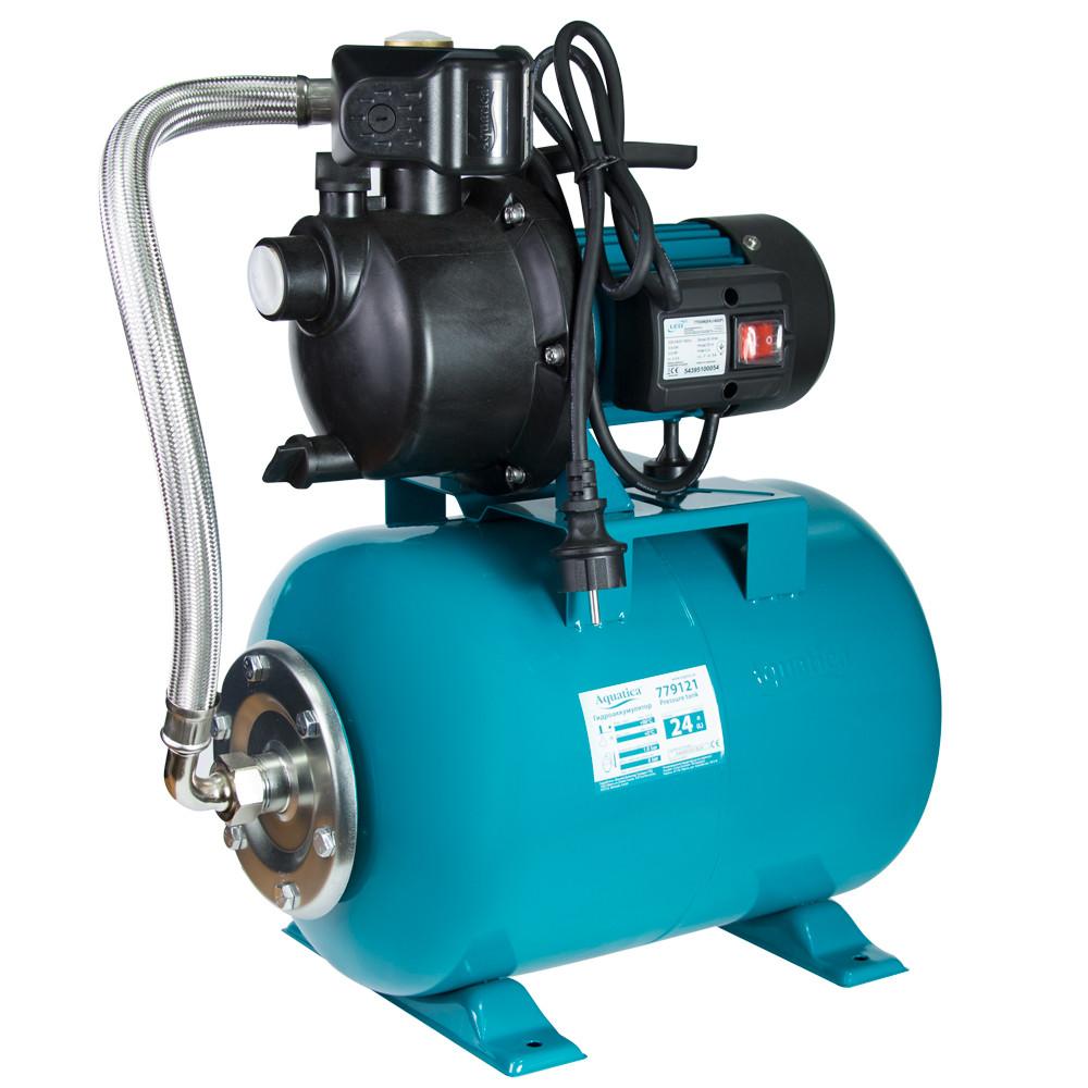 Насосна станція 0.6 кВт Hmax 35м Qmax 50л/хв пластик (самовсмоктуючий насос) 24л Україна AquaticaLEO