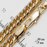 Ланцюг на шию чоловіча 50 см модна позолота золотистий колір Xuping G-131