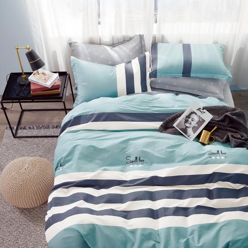 Комплект постельного белья Bella Villa сатин Евро бирюзовый.