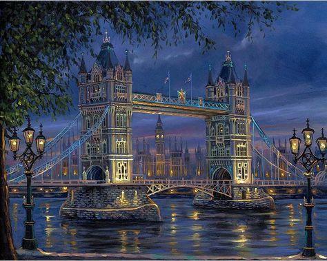 "Картина по номерам ""Тауэрский мост"" тм Лавка Чудес 40 x 50 см (в коробке) (LC30039)"