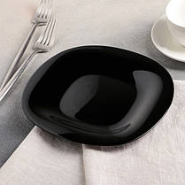 Квадратная черная тарелка для закусок Luminarc Carine Black 190 мм (L9816), фото 2