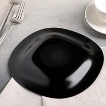 Квадратная черная тарелка для закусок Luminarc Carine Black 190 мм (L9816), фото 3