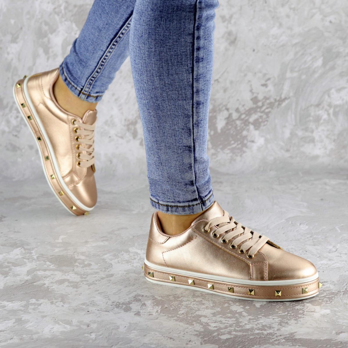 Женские стильные кроссовки Fashion Freddy 1011 36 размер 22 см Золотистый
