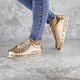 Женские стильные кроссовки Fashion Freddy 1011 36 размер 22 см Золотистый, фото 2