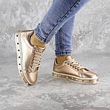 Женские стильные кроссовки Fashion Freddy 1011 36 размер 22 см Золотистый, фото 3