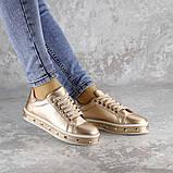 Женские стильные кроссовки Fashion Freddy 1011 36 размер 22 см Золотистый, фото 5