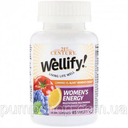 Вітаміни для жінок 21st Century Wellify women's Energy 65 таб., фото 2