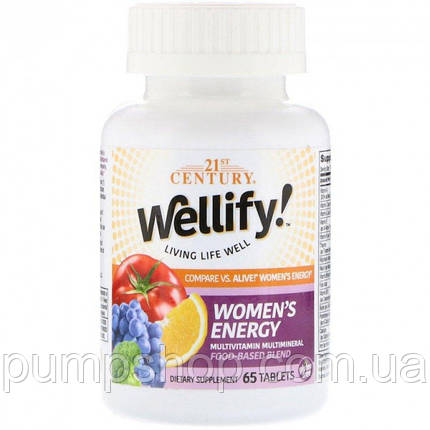 Витамины для женщин 21st Century Wellify Women's Energy 65 таб., фото 2