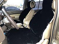 Накидки меховые на сидения, из овечьей шерсти, меха, ІМАН, овчина на автомобильное кресло, теплые две передние, чёрный