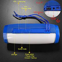 Портативна bluetooth колонка T&G TG-157 з підсвічуванням, синя, фото 3