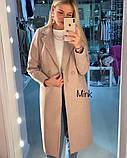 Пальто женское кашемировое. Размеры: С, М, Л. Цвет: темно-серый, бежевый, светло-серый, пудра, фото 3