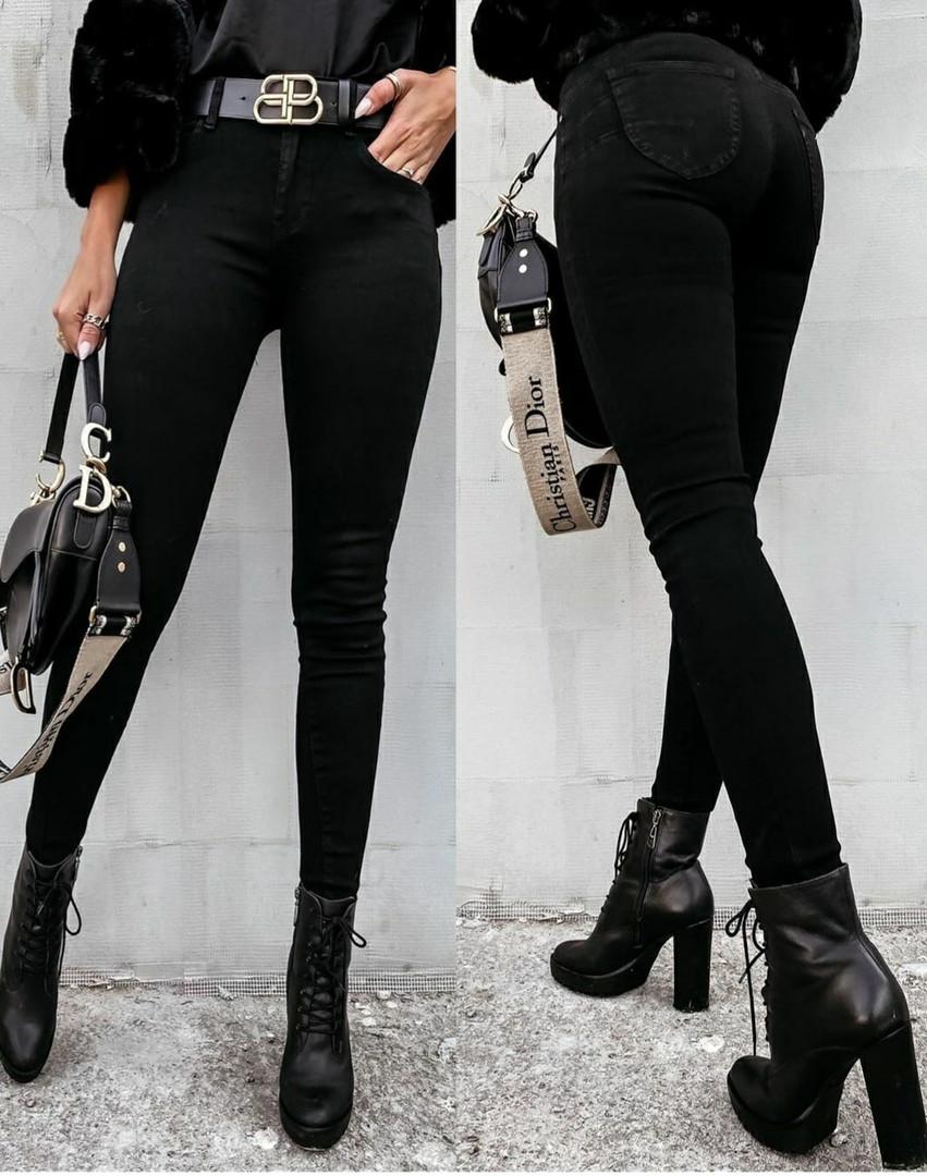 Джинси жіночі джинс коттон чорного кольору розмір: 26, 27, 28, 29, 30