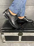 Мужские туфли кожаные весна/осень черные Vivaro 555, фото 3