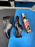 Мужские туфли кожаные весна/осень черные Vivaro 555, фото 5