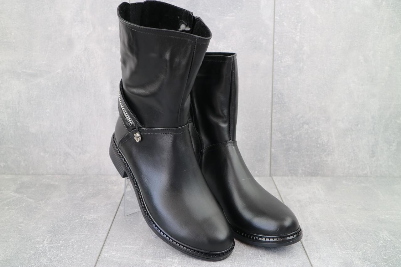 Женские ботинки кожаные зимние черные Emma Z -028