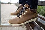 Мужские ботинки кожаные зимние оливковые Yuves 773, фото 2