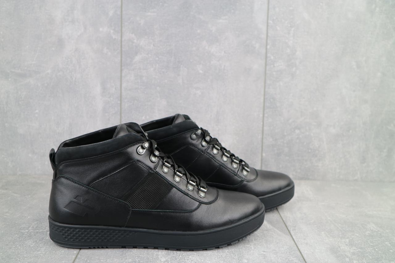 Ботинки мужские Norman 198 черные (натуральная кожа, зима)