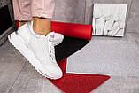 Женские кроссовки кожаные весна/осень белые Calo Pachini 4505/20-98, фото 6