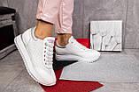 Женские кроссовки кожаные весна/осень белые Calo Pachini 4505/20-98, фото 7