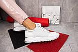 Женские кроссовки кожаные весна/осень белые Calo Pachini 4505/20-98, фото 8
