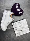 Женские кроссовки кожаные весна/осень белые Calo Pachini 4505/20-98, фото 10