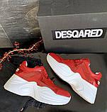 Женские кроссовки кожаные весна/осень красные-белые ANRI-de-colo 655/158, фото 6