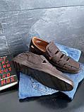 Мужские сандали замшевые летние коричневые Vankristi 1151, фото 2