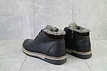 Мужские ботинки кожаные зимние черные-матовые Yuves Clas, фото 5