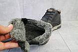 Мужские ботинки кожаные зимние черные-матовые Yuves Clas, фото 6