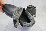 Мужские ботинки кожаные зимние черные-матовые Yuves Clas, фото 7