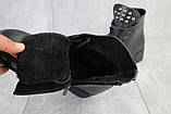 Женские ботинки кожаные зимние черные Sezar 13k, фото 6