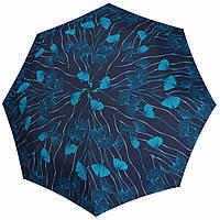Сатиновый зонт Doppler Бирюзовые цветы ( полный автомат ), арт. 74665GFGR 02, фото 1