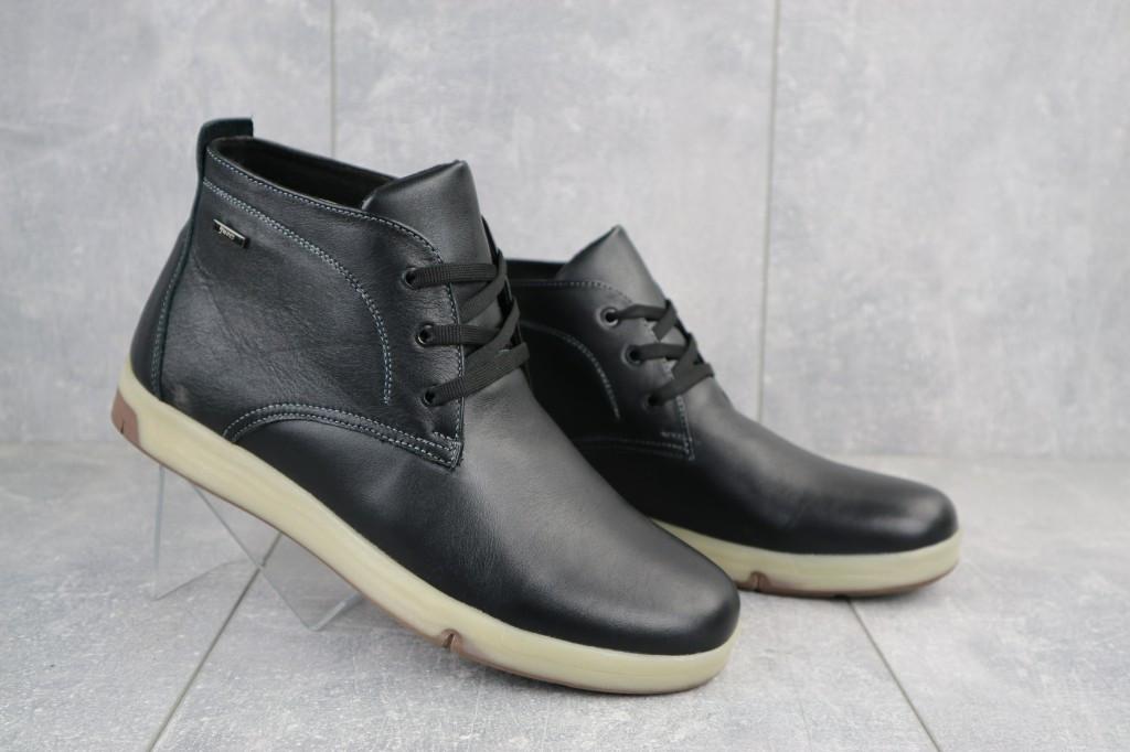 Мужские ботинки кожаные зимние черные Yuves Obr 7