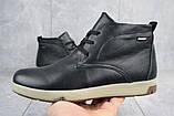 Мужские ботинки кожаные зимние черные Yuves Obr 7, фото 3