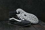 Мужские кеды кожаные зимние черные CrosSAV 118, фото 2