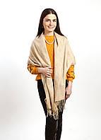 Теплый шарф палантин 185*73см, акрил/кашемир «Mulberry» бежевый