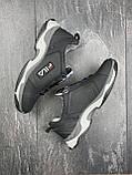 Подростковые кроссовки кожаные весна/осень черные CrosSAV 404, фото 6