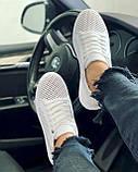 Женские кроссовки кожаные летние белые Yuves 591 Casual, фото 7