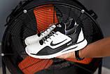 Мужские кроссовки кожаные весна/осень белые-черные CrosSAV 316 Sport, фото 8