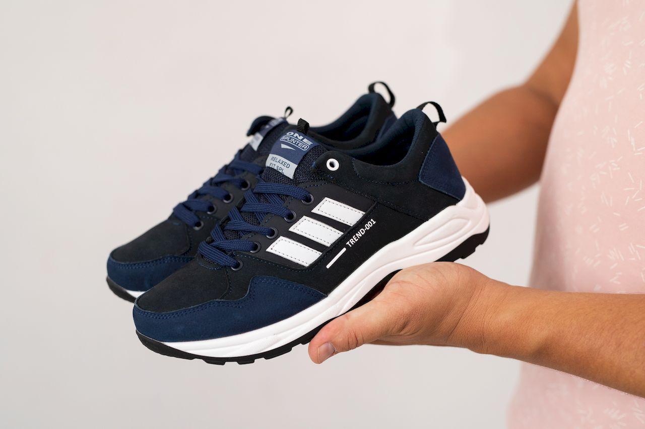 Подростковые кроссовки кожаные весна/осень синие Splinter Boy 2220 Trend