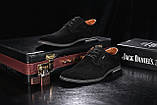 Мужские туфли замшевые весна/осень черные на шнурках Yuves М5 (Trade Mark), фото 4