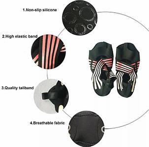Носки чешки противоскользящие для йоги пилатеса танцев, фото 2