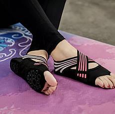 Носки чешки противоскользящие для йоги пилатеса танцев, фото 3