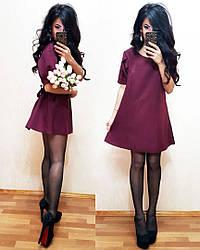 Платьеце короткий вільного крою під пояс