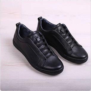 Кросівки класичні на шнурку натуральна шкіра, фото 2